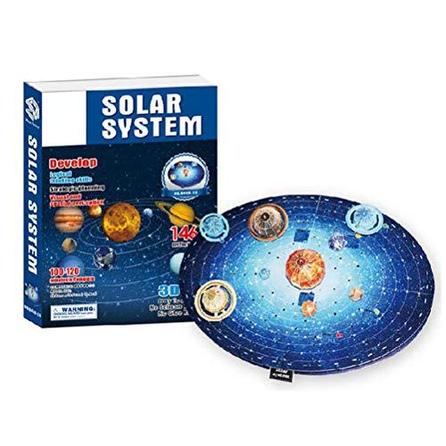 3D Solar System Puzzle Set Planet Puzzle Brettspiel 3D Papier DIY Puzzle Spielzeug für Kinder