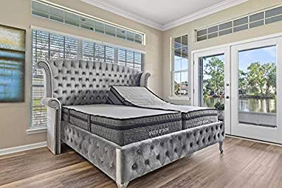 "Sven & Son Split King Essential Adjustable Bed Base Frame + 14"" Luxury Cool Gel Memory Foam Hybrid Mattress, Wireless, 5 Minute Assembly, Head & Foot Articulation (Split King + 14"" Mattress)"