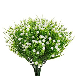 Artificial Flowers Gypsophila Baby's Breath Fake Water Plants Bouquet 6 Bundles Fake Plants