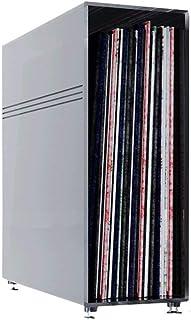 Soporte para discos de vinilo de escritorio, grabador de video, fonógrafo, estante de almacenamiento de metal LP, sala de ...