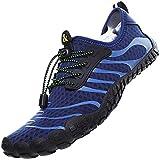 Topwolve Escarpines para Hombre Barefoot Respirable Zapatos de Agua Secado Rápido Antideslizante Zapatos de Playa para Deportes Acuáticos Buceo Surf Playa Pesca Yoga,Azul,44 EU