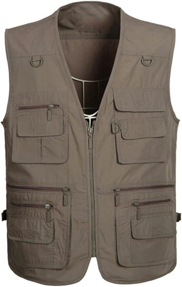 Fishing Vests for Men Vest 70% OFF Outlet Pocket Sale item Multi Outerwear S
