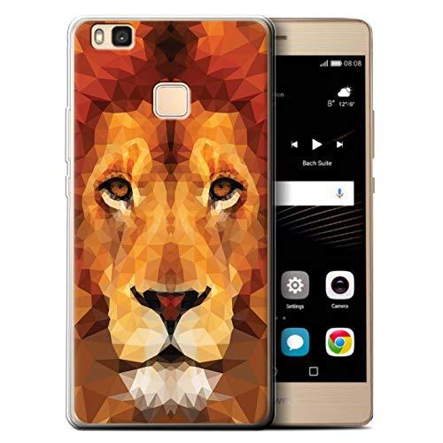 eSwish Custodia/Cover/Caso/Cassa Gel/TPU/Prottetiva Stampata con Il Disegno Animale Geometrico Natura per Huawei P9 Lite (2016) - Leone Africano