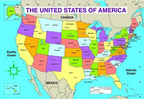 Carson Dellosa | Labeled US Map Jumbo Pad | 30 Sheets
