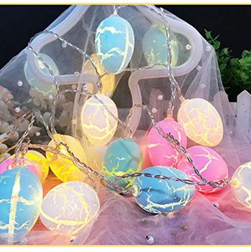 CawBing 10 LED Easter Eggs String Lights, Eggs Fairy Lights, Battery Operated Waterproof Scattered Light Easter Tree Hang Ornaments, Festivals Lights Warm Decorations for Outdoor Indoor Front Yards