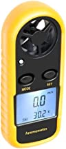 ELenest Anemometer, Digital LCD Wind Speed Meter Gauge Air Flow Velocity Thermometer Measuring Device with Backlight for Windsurfing, Sailing, Kite Flying, Surfing Fishing Etc.