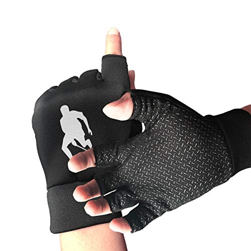 Women/Men Field Hockey Silhouette Gifts Fingerless Gloves for Arthritis & Carpal Tunnel Pain Relief