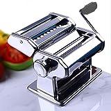 Eloklem Nudelmaschine Edelstahl Pastamaker Pastamaschine Nudel Maschine für Frische Pasta Spaghetti Maker (A_Silber)