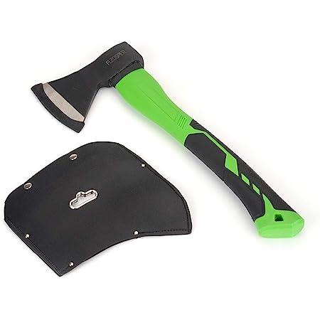 斧 薪割り手斧 キャンプ用品 鉈 ガーデン用手斧 380mmアウトドア 釣り 山歩き 園芸用 保護ケース付き