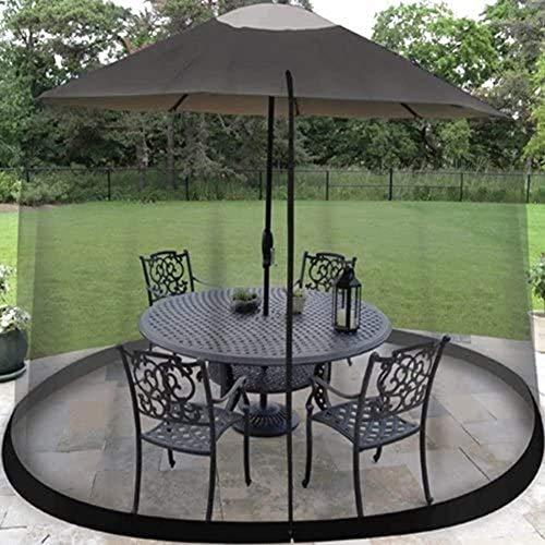 SWEET Moustiquaire d'extérieur, Parasol de moustiquaire portatif d'extérieur pour moustiquaire avec moustiquaire avec Ouverture à glissière pour parasols Gazebos