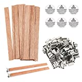 BENBO 50 Pieces Smokeless 5.1 X 0.5 Inch Natural Candle Wicks with Iron Stand Environmentally Friendly Candle...