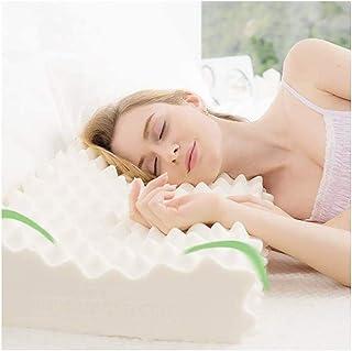 Zhou-bottle Almohada De Goma De Gel Latex Pillow-Memory, Una Almohada De Enfriamiento para Masajes Que Puede Ayudarlo A Dormir Profundamente Y Proteger La Columna Cervical (Color : White)