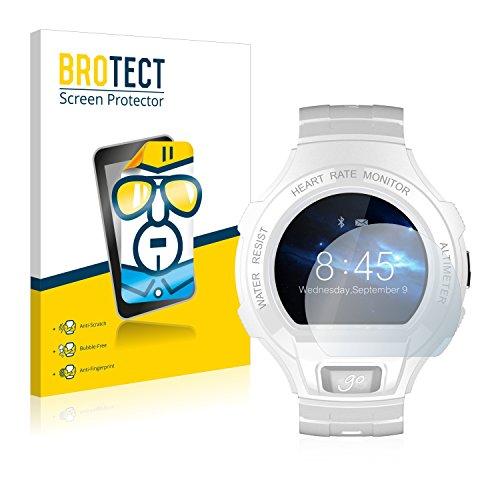 BROTECT Protector Pantalla Compatible con Alcatel Go Watch Protector Transparente (2 Unidades) Anti-Huellas