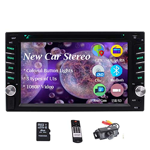 Double 2 Din Bluetooth Auto-Hifi-Anlage im Schlag-DVD-CD FM / AM-Autoradio Digital Media Receiver 6.2 Zoll 5-Touch-Touchscreen-Display GPS-Navigation-Steuerger?t USB SD AUX IN Wireless Remote + Backu
