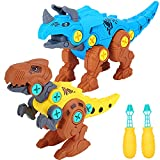 ZZLWAN Dinosaur Toys for 3 4 Year Old Boys Gifts,Take Apart Learning Dinausors Toys for Kids 5-7,STEM Construction Building Toy Games for Kids Age 4-8,Birthday Presents for Boys Girls Age 3-8