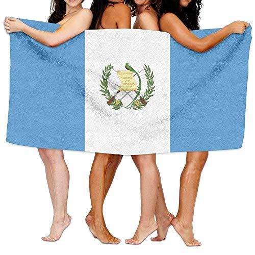 jhgfd7523 Toalla de playa con bandera de Guatemala, suave, ligera, absorbente, de 31 x 35 pulgadas, para baño, natación, viajes, esquí, 31 x 51 pulgadas