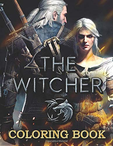 The Witcher Coloring Book: Exclusive coloring book with high quality lineart images