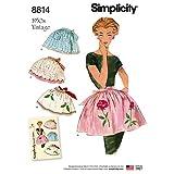 Simplicity US8814OSPattern 8814 - Delantal para mujer, diseño vintage, color blanco, talla única