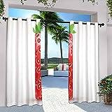 Letter I - Cortinas de exterior para patio, impermeable, diseño de fresa con hojas verdes vivas veganas, apto para pabellones de terraza al aire libre, 120 x 84 pulgadas, color verde y naranja