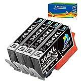 Confezione: ogni cartuccia di inchiostro 364XL è stata confezionata in un singolo sacchetto di plastica, pratico e facile da installare su richiesta.