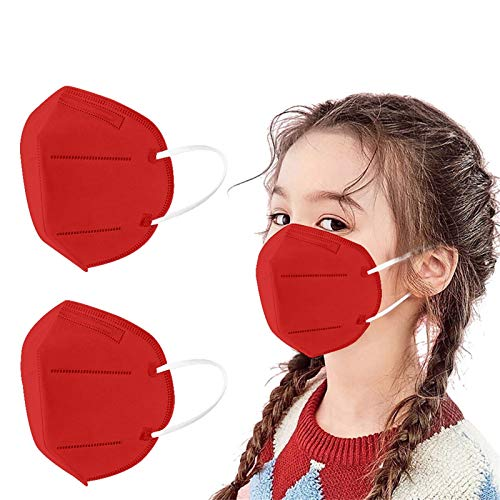 MaNMaNing Niños Protección 20-100 Unidades con Elástico para Los Oídos 20210121-MANIN-K009 (Rojo 20PC)