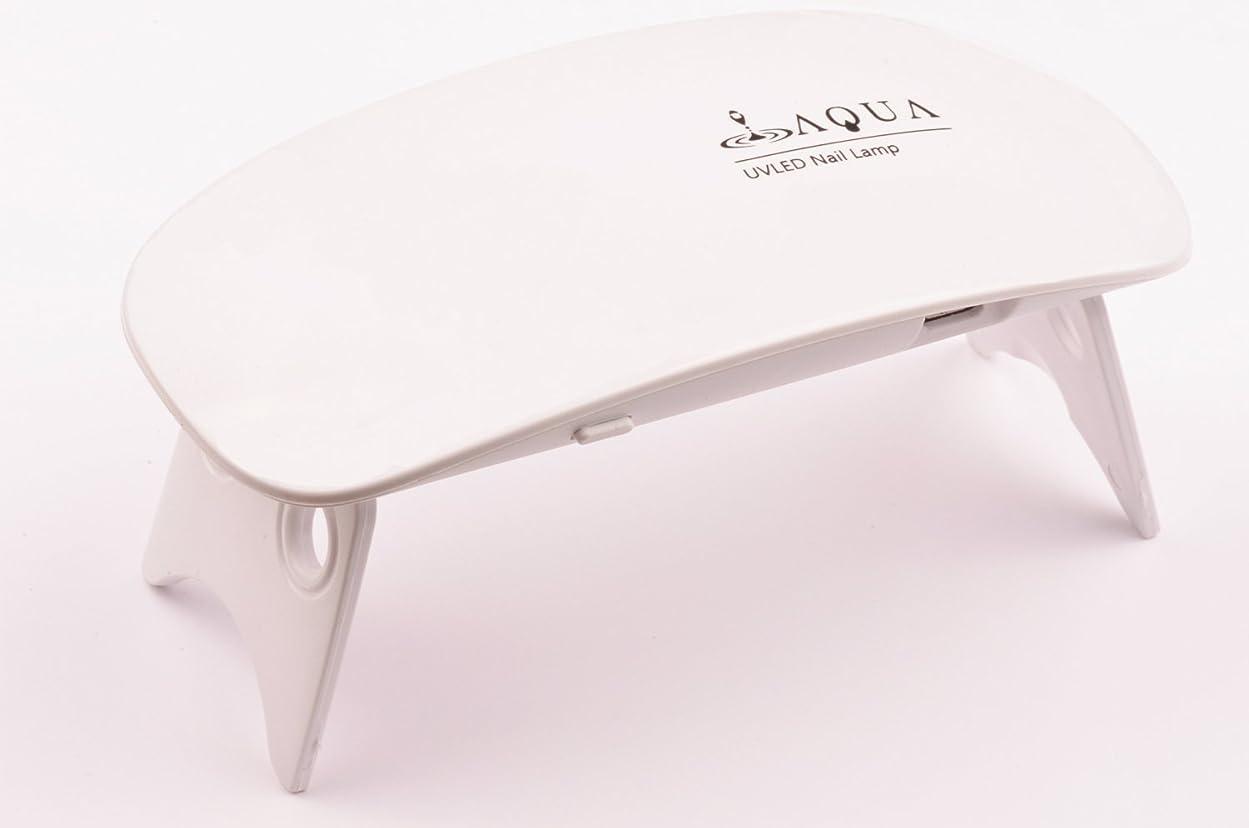 非公式組み合わせ略すLEDライト UVライト 6W 持ち運びに便利な軽量コンパクトサイズ (04.ホワイト)