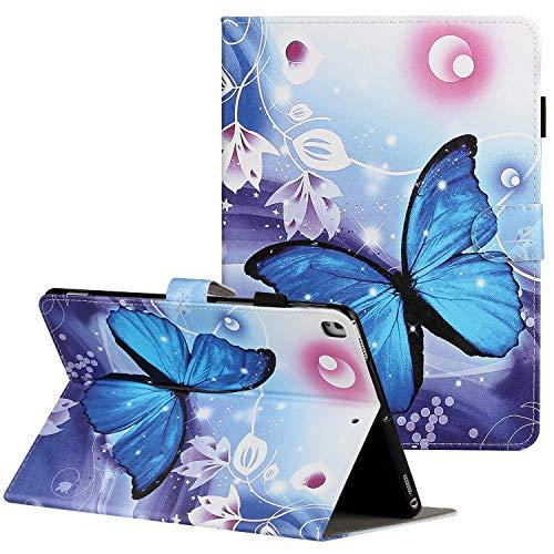 Coopts - Funda para iPad Mini 5 (con soporte para lápices, Mini 1 2 3 4 (7,9 pulgadas), función atril y función atril 00-Mariposa Azul