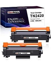 Zambrero TN-2420 TN2420 Cartucho Tóner Compatible para Brother MFC-L2710DN MFC-L2710DW MFC-L2730DW MFC-L2750DW DCP-L2550DN DCP-L2530DW DCP-L2510D HL-L2375DW HL-L2370DN HL-L2350DW (2 Negro)