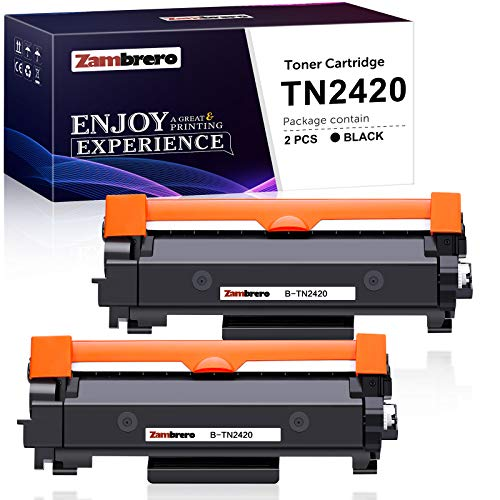 Zambrero Compatibile Toner TN2420 Sostituzione per Brother TN2420 TN2410 per Brother MFC-L2710DW MFC-L2710DN MFC-L2730DW MFC-L2750DW HL-L2350DW HL-L2375DW HL-L2370DN DCP-L2510D DCP-L2550DN (2 Nero)