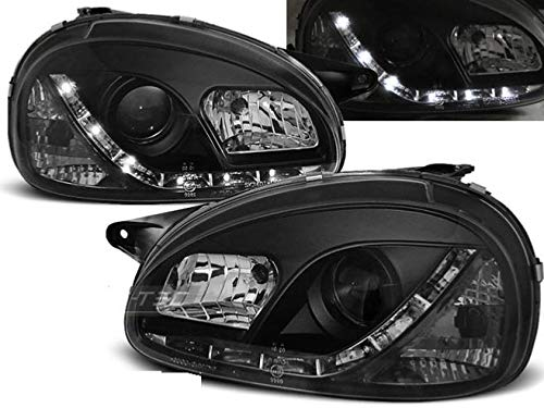 Shop Import Paire de Feux phares - Corsa B 93-00 Daylight LED Noir (P56)