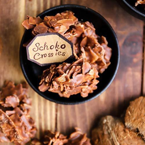 Simply Keto Schoko Crossies Pralinen - Geröstete Kokoschips in Vollmilchschokolade - Choco Crossies mit Erythrit - Geeignet als Low Carb Süßigkeiten & für Ketogene Ernährung - 75g