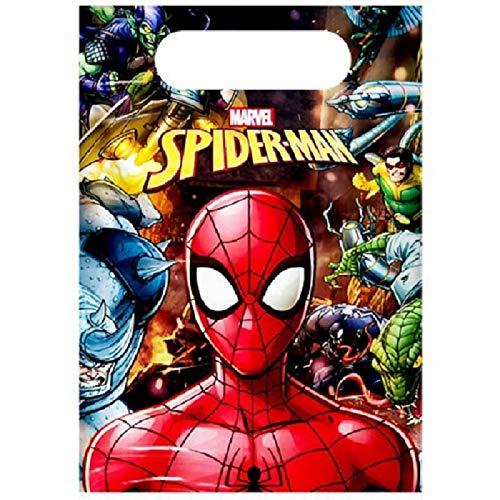 Inbetweenies Pack Of 10 Spiderman Party Bags