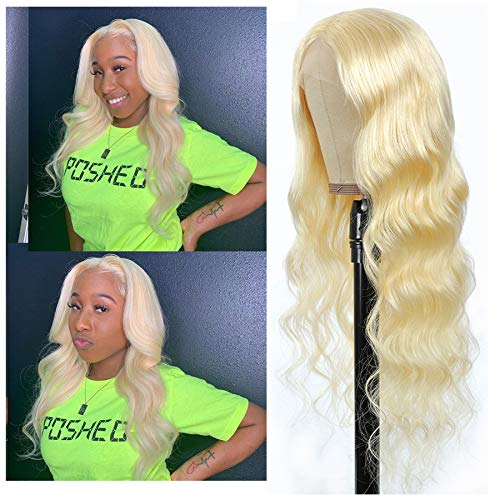 613 Blonde Lace Front Wig Human Hair T Part Lace Front Wigs Human Hair For Black Women ( 18 Inch)