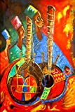no!no! Puzzle en Bois 1000 Pieces Peinture à l'huile Instrument de Musique Ethnique Adultes Enfants Classique Jeu Cadeau