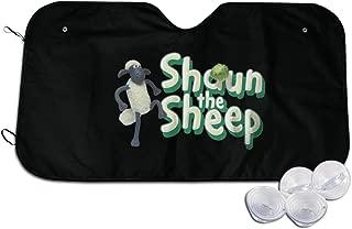 Hutiaqi Shaun The Sheep Car Windshield Sun Shade Universal Fit Car Sunshade-Keep Your Vehicle Cool. Uv Sun and Heat Reflector