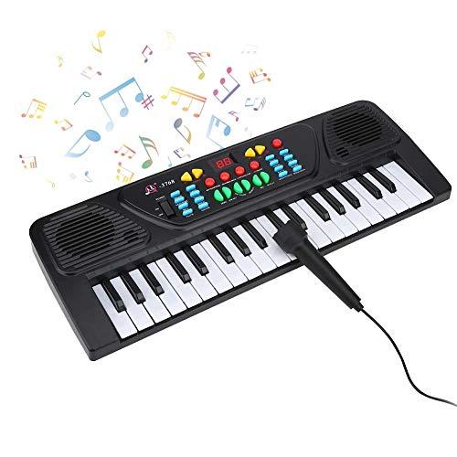 VGEBY E-Piano, Kinder Klavier 37Key Elektronisches Keyboard Tastatur Piano Digitalklaviertastatur Musikinstrumente mit Mikrofon für Jungen Anfänger Kinder Jugendliche