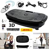 Profi Vibrationsplatte mit 3D Vibration Heimtrainer Massage Power Platte 150kg 3D Wipp Vibrationsgeräte Fitness mit Bluetooth Music Flat,Garantie(Deutsche Ortszustellung)