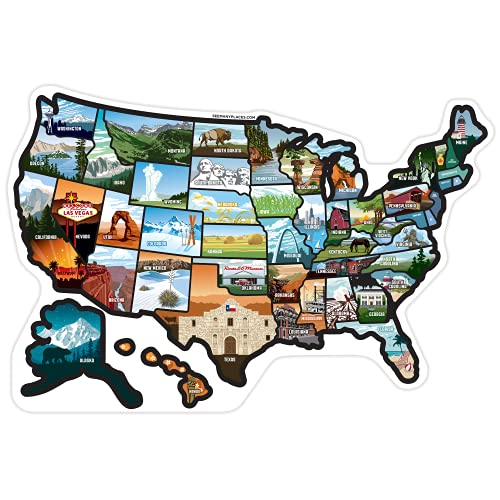 5128mt1Ib7S._SL500_ RV State Sticker Travel Map