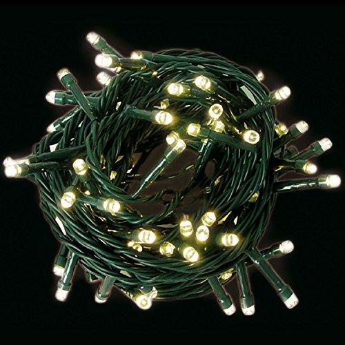 LED Lichterkette mit 500 LED - Lichtfarbe warmweiß - für den Innen- und Außenbereich - Ideal für Haus, Wohnung, Garten