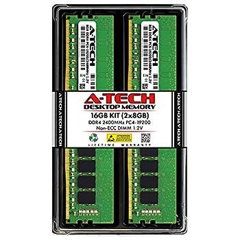 A-Tech RAM 16GB  2x8GB  DDR4 2400MHz DIMM PC4-19200  PC4-2400T  CL17 1.2V Non-ECC UDIMM 288 Pin - Desktop PC Computer Memory Upgrade Kit