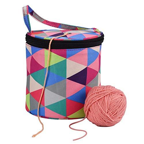 Rich-home Stricktasche Stricken Häkeln Aufbewahrung Tasche für Wolle Tasche Aufbewahrung zum Stricken/Häkeln