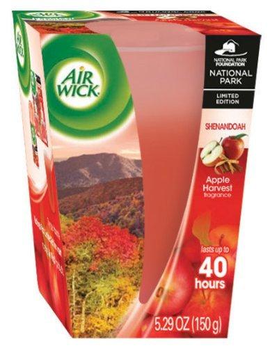 Air Wick Scented Candle, National Park Collection, Shenandoah, Apple Harvest 5.29 Ounce (1, Shenandoah Apple Harvest Fragrance)
