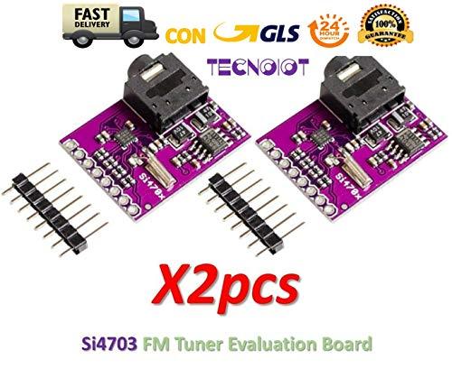 TECNOIOT 2pcs Si4703 FM Tuner Evaluation Board Radio Development Module for Arduino