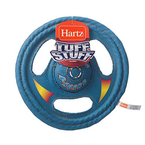 Hartz Tuff Stuff Toss Around Plush Frisbee Flyer Dog Toy