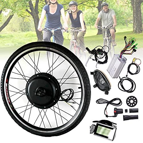 JINGJIN Kit de conversión de Bicicleta eléctrica 48V 1000W 20'24' 26'28' 700c Kit de conversión de Bicicleta eléctrica - Kit de Motor de Cubo de Rueda Delantera y Trasera,FrontWheel-20INCH