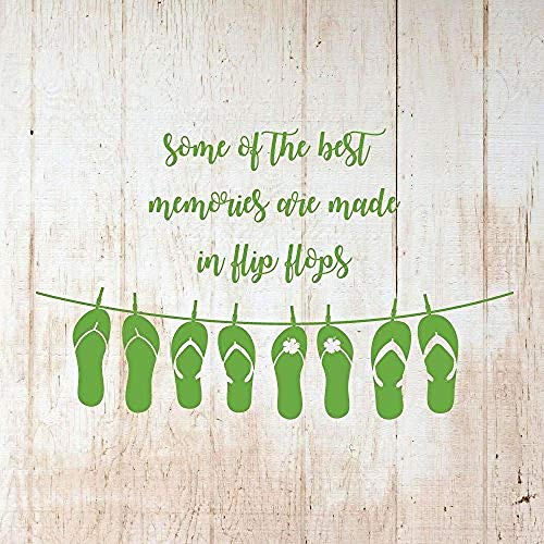 Wall Sticker for Living Room Bedroom Decor Art Home Decoration Some of The Best Memories are Made in Flip Flops Vinyl or Beach House 60X45cm
