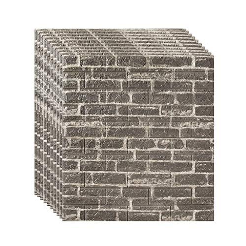 Los paneles de pared de ladrillo despegar y pegar autoadhesivo 3D de...