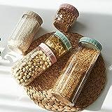zyh Tarro de Cocina,Tarro de Cocina con Tapa,Recipiente hermético,Utilizado para almacenar Alimentos,plástico,Utilizado para almacenar Cereales,Pasta,arroz,harina,etc.