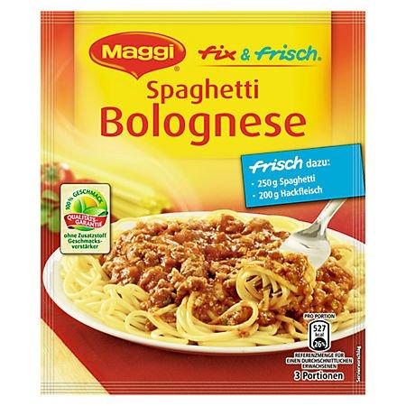 Maggi Fix und Frisch Spaghetti Bolognese 6 x 38 g