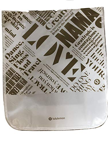 Lululemon Large Reusable Tote Carryall Gym Bag (White/Gold)